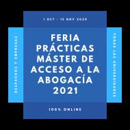 Feria Virtual Prácticas Máster Acceso Abogacía 2021